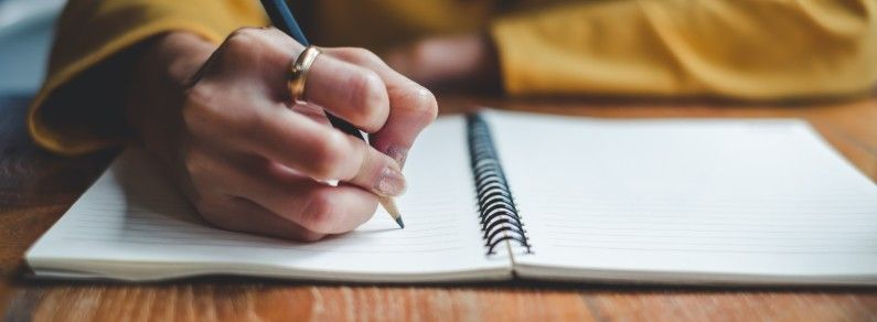 person taking notes