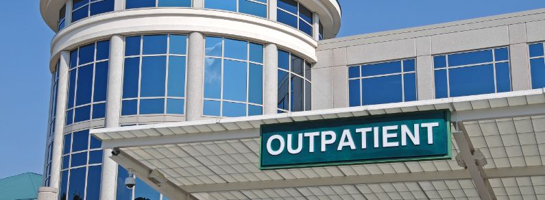 Outpatient entrance to hospital